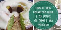 Curso de Bolos Caseiros, sem glúten, lácteos, soja*